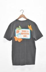 「HAVE A GRATEFUL DAY」S/S Tee -butterfly・black-