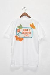 「HAVE A GRATEFUL DAY」S/S Tee -butterfly・white-
