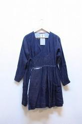 「Leh」pleat cache-coeur blouse -indigo- (lady)