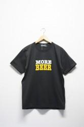 ★40%OFF★「MORE BEER」type2 logo Tee -charcoal-