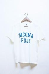「TACOMA FUJI RECORDS」COLLEGE LOGO -white-