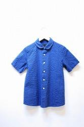 ★40%OFF★「maillot」indigo stripe s/s girls shirts