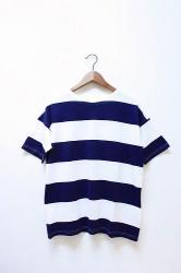 「maillot」 wide border big tee (men&lady)