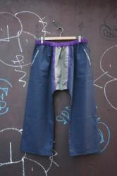 「chillt」easy pants -navy/gray- (men&lady)