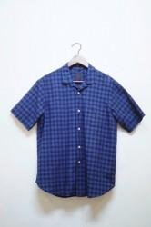 ★20%OFF★「maillot」indigo check S/S open shirts