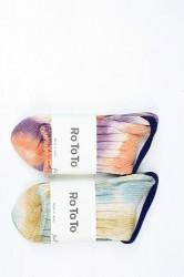 "「RoToTo」 LOW GAUGE SLUB SOCKS ""marble (mens&ladys)"