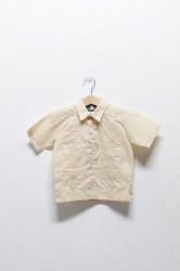 「D'ACCORD」kids guayabera shirts -l.yellow- (kids)