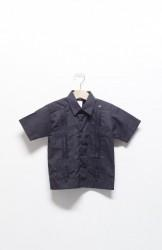 「D'ACCORD」kids guayabera shirts -black- (kids)