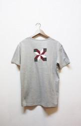 「Norah」patchwork tee -gray- (men)