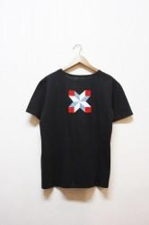 「Norah」patchwork tee -black- (men)