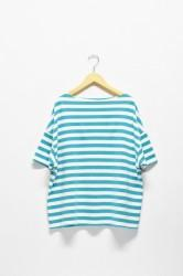 ★40%★「maillot」border drop shoulder s/s T -emerald-