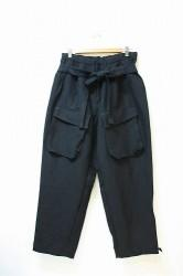 「Leh」2Tuck Cargo Slacks -black- Mサイズ (mens)