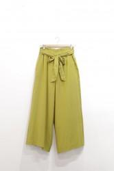「Hunch」ribbon belt wide pants -olive- (lady)