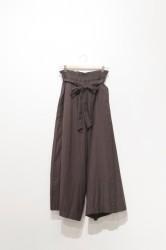 「Hunch」ribbon belt wide pants -charcoal- (lady)