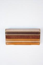 "★30%OFF★「ojagadesign」long wallet ""clarissa""-brown-"