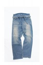 「ARIGATOFAKKYU」denim thai pants (men&lady)