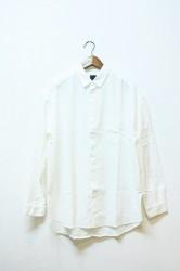 ★30%OFF★「maillot」 nel snap relax shirt -white-