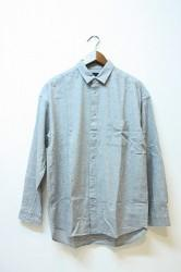 ★30%OFF★「maillot」 nel snap relax shirt -gray-