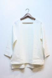 「Lithops」 Over Shirt -white- (mens&ladys)