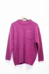 「maillot」boucle pocket sweater -magenta- (men)