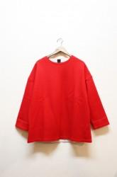 「maillot」melton long sleeve trainer-red-(men&lady)