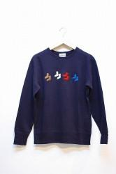 ★SALE40★「HEADYS」 SOCKAHOLIC LIGHT SWEAT -navy Sサイズ