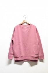 「a hope hemp」rib slit wide sweat -scarlet-