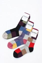 「RoToTo」woolen patch work socks (men&lady)