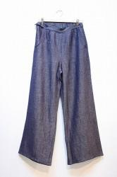 ★SALE40★ 「phateeWEA」 VAGGY PANTS -blue- (lady)