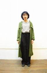 「maillot」 military cloth stand work OP (ladys)