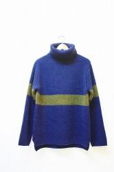 ★30%OFF★「norah」 Turtle sweater -navy- Mサイズ (men)