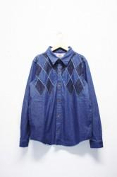 「ARIGATOFAKKYU」denim shirts jacket (men)
