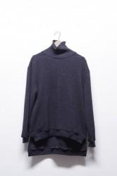 「Leh」beatnik turtle sweater -black- (men&lady)