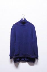 「Leh」beatnik turtle sweater -navy- (men&lady)