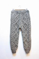 ★SALE20★ 「NEBULAVO」HAND KNIT CABLE TROUSERS