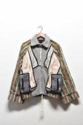 「leh」art to wear patchwork blouson (men)