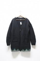 ★20%OFF★「norah」hand knitted cardigan -black- Lサイズ