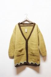 ★20%OFF★「norah」hand knitted cardigan -beige-