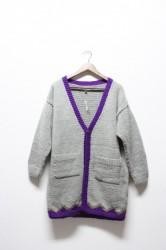 ★20%OFF★「norah」hand knitted cardigan -l.gray-