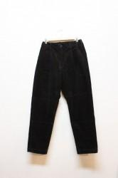 「KAFIKA」corduroy lounge pants -black- (men)