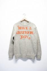 「GO WEST」grateful day crew knit -gray- (men&lady)