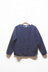 ★SALE30%OFF★「A HOPE HEMP」boa wide pullover -navy-