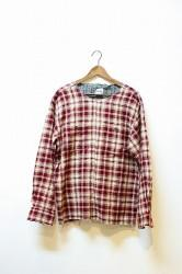 ★40%OFF★「ReAdd」 used check pullover shirt -red-