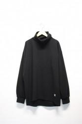 「QUOLT」high neck cutsew -black- (men&lady)