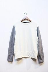 「HiHiHI」 Crewneck Sweat -kinari/gray- (mens&ladys)