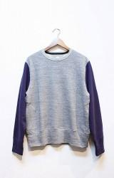 「HiHiHI」 Crewneck Sweat -gray/navy- (mens&ladys)