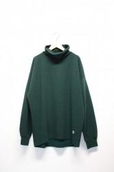 「QUOLT」high neck cutsew -green- (men&lady)