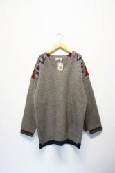 「ARIGATOFAKKYU」sweater -brown- (men&lady)