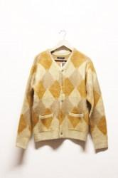 「modem design」knit cardigan -yellow- (men)