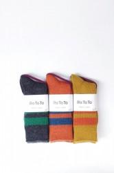 「RoToTo」reversible brush mohair socks (men&lady)